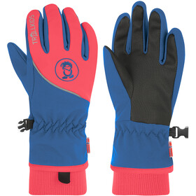 TROLLKIDS Trolltunga Gloves Kids midnight blue/coral
